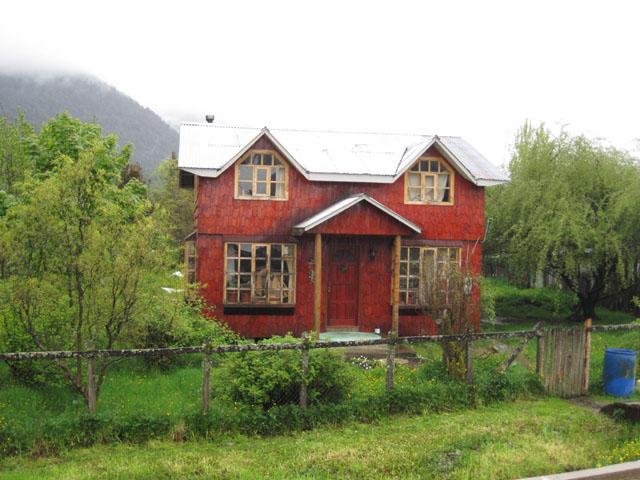One of the wooden houses, Puyuhuapi, Chile...