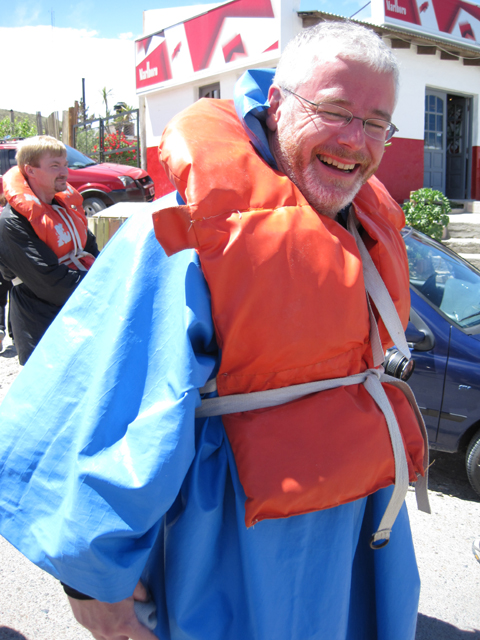 Simon, ready to head out to sea...