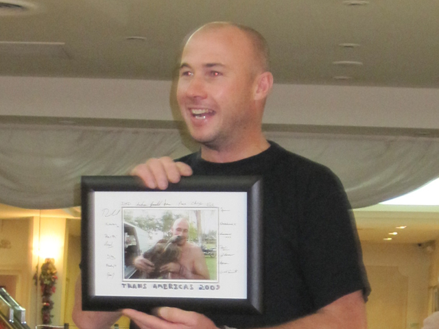 Jeff and his signed turtle pic...