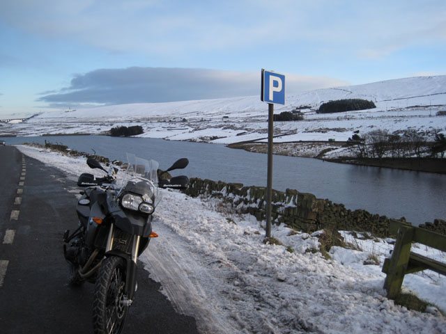 Paul's new bike, in the snow
