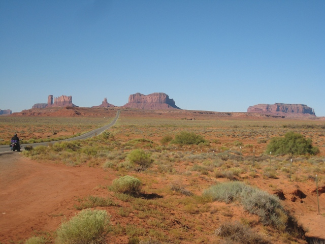First glimpse of Monument Valley…
