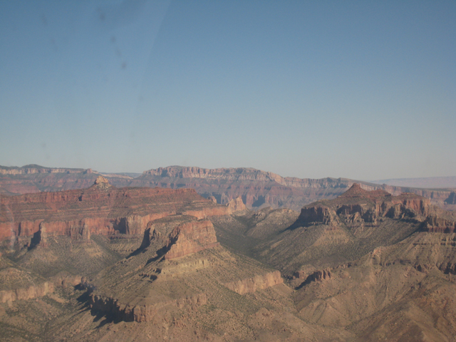 View from the middle of the Grand Canyon
