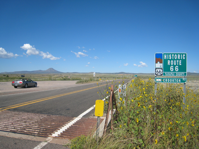 At the start of one of the last remaining sections of Route 66, on the way to Seligman…