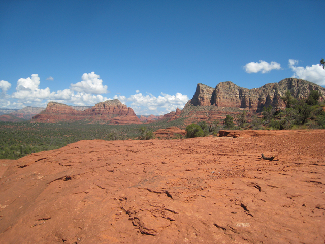 Looking over Sedona's beautiful countryside from the Bell Rock vortex site…