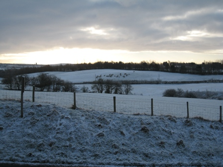 Will we have a White Christmas - view from our house on 4th March...
